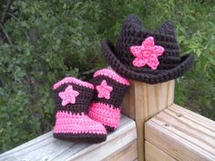 Baby crochet Cowgirl Boots... cute!