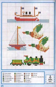boats, ducks, train