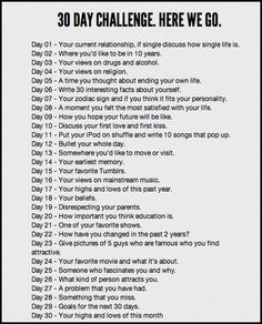 30 Day Promps - 30 Day Challenge