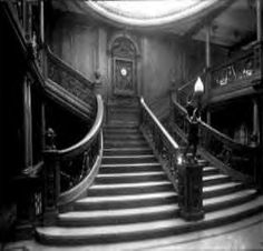 Another view of the famous first class lower grand staircase.