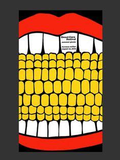 Sweetcorn festival poster by Steve Frykholm for Herman Miller, 1970.