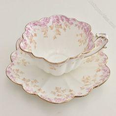 Antique Wileman Empire shape cup trio with Ivy print in Tea Sets Vintage, Vintage Cups, Teapots And Cups, Teacups, Antique Tea Cups, Tea Pot Set, China Tea Cups, Tea Cup Saucer, Tea Time