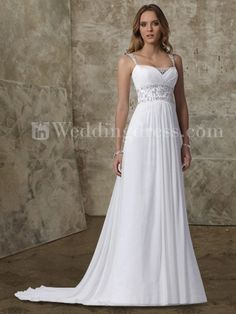 Elegant A-Line Chiffon Beaded Gown with Straps DE321 $245.00