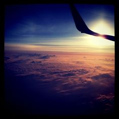 Instragram photo; sunrise at Atlanta, taken while in the plane.
