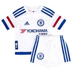 Chelsea Away White Children's Jersey Kit(Shirt+Short), Price: - Best Discount Soccer Jerseys Wholesale Shop Chelsea C, Yokohama, Soccer, Children, Swimwear, Stuff To Buy, Shirts, Shopping, Tops