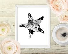 Sea Star, Starfish Illustration, Kids starfish Decor, Autism Love, Ocean Decor, Autism Digital Image, Autism Inspirational, Starfish Art by AutismAwarenessArt on Etsy