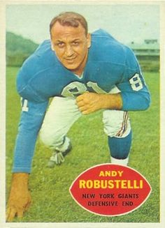 football cards robustelli | name on card andy robustelli card number 81 year 1960 set name 1960 ...