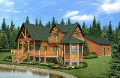Country's Best Log Home Plan by Golden Eagle Log Homes