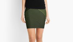 Line Art - Geometric Illusion, abstraction yellow by cool-shirts If saving 20% is wrong, we don't want to be right. Use CHOP20 #sale #apparel #dress #skirt #miniskirts #style #fashion