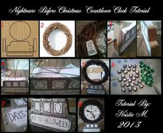 DIY Nightmare Before Christmas Halloween Props: Halloween Count Down Clock Prop