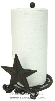 Texas Lone Star Paper Towel Holder