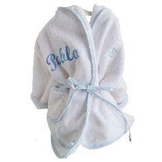 ALBORNOZ PERSONALIZADO. Ropa personalizada para bebé. Ropa y regalos personalizados para recién nacido. Cesta para bebé. Canastilla para recién nacido.