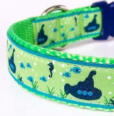 cute submarine dog collar
