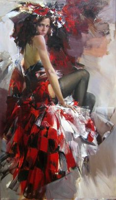 Ivan Slavinsky ~ Surrealist and impressionist painter Woman Painting, Figure Painting, Painting & Drawing, Garden Painting, World In Motion, Foto Art, Up Girl, Portrait Art, Beautiful Paintings