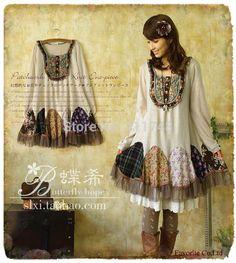 Harajuku-Japanese-Mori-style-knitted-dress-peacock-patchwork-lolita-girl-winter-faldas-long-sleeve-cotton-novelty.jpg (680×760)