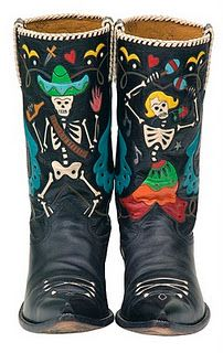 I wanna be a cowboy so you can be my cowgirl Custom Cowboy Boots, Cowgirl Boots, Western Wear, Western Boots, Bota Country, Westerns, Cowgirl Chic, Cowgirl Style, Day Of The Dead
