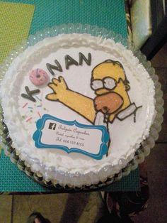 Hommer cake homero simpson pastel tres leches casero 100% fresh homemade baking #tulipáncupcakes en facebook