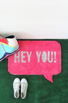 » MY DIY | Quote Bubble Welcome Mat