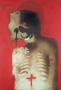 Hand-finished archival pigment print on canvas 110 cm x 79 cm Alien Art, Arte Horror, Creepy Art, Outsider Art, Skull Art, Portrait Art, Art Inspo, Cool Art, Art Drawings