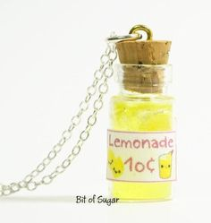 Wish   Miniature Lemonade Bottle Necklace - Retro Kitsch Kawaii Pendant Charm http://www.ecrafty.com/c-517-mini-glass-bottles.aspx?pagenum====pricedescending=60