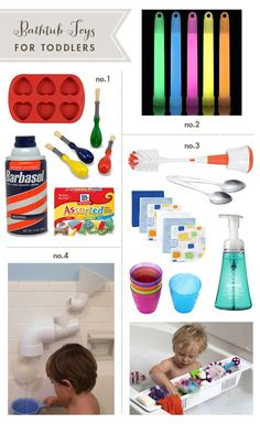 Toddler Bath Toys (Using Household Items)