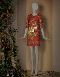 FLOWER AND KEY PRINT TUNIC DRESS - Short dresses - Dolce&Gabbana - Winter 2015