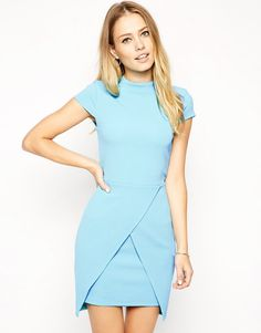 Blue Short Sleeve Bodycon Dress 14.99