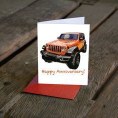 Excited to share this item from my shop: JL Wrangler Jeep Birthday Card. Thank you card. Customize your card! Now available in More colors! Modern Art Prints, Wall Art Prints, Poster Prints, Kids Room Wall Art, Nursery Wall Art, Happy Anniversary, Anniversary Cards, Cards For Boyfriend, Garage Art
