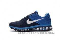 on sale 4c2bc 95fb9 Authentic Nike Air Max 2017 KPU Navy Blue White Best Kn6Kt  Sneakers