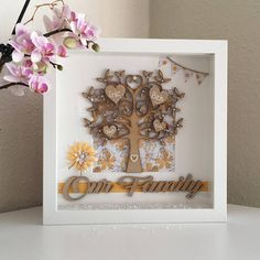 Wall Art Personalised Family Tree Gift Box Picture Frame