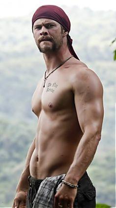 Chris Hemsworth. I...I dont think I'm breathing...