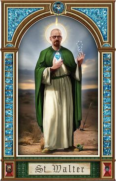 """Saint Walter"": Eine göttliche Illustration von Walter White on http://www.drlima.net"