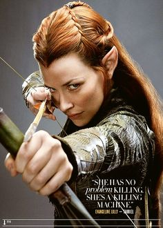 Tauriel (Evangeline Lilly) - love her hair!