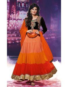Orange Sayali Bhagat Georgette Anarkali Long Suit  Rs.4,299 43% OFF