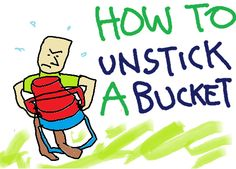 5 Gallon Bucket Unstick Stuck Buckets! | Five Gallon Ideas Because you use lots and lots of buckets to make paper