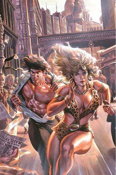 """Tarzan e Sheena: Lords of the Jungle"" 2 Cover di Felipe Massafera Fantasy Art Women, Fantasy Girl, Dark Fantasy, Comic Book Covers, Comic Books Art, Comic Art, Boris Vallejo, Fantasy Characters, Female Characters"