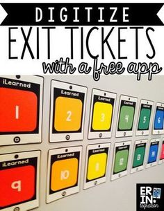 Make your own digital exit tickets! Use a printable poster, sticky notes, and a free app to save exit tickets for reference! You do not need to be 1:1. Students simply write what they learned on a sticky, paste it onto the poster, then the teacher scans the completed poster with a free app. Very cool! Teaching Strategies, Teaching Tools, Teacher Resources, Teaching Aids, Differentiation Strategies, School Resources, Teaching Science, Teaching Technology, Educational Technology