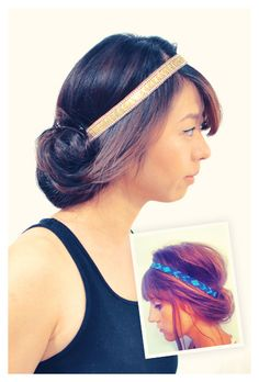 lazy hairstyle, headband, roll hair, rolled up hair, hairstyl hack, hairband hairstyle, 26 lazy girl hairstyling hacks