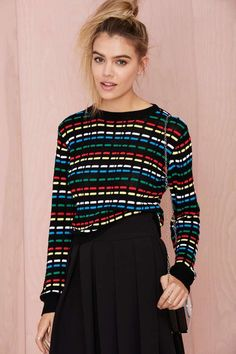 Critical Digital  Waffle-Knit Sweater | Shop Sweaters at Nasty Gal