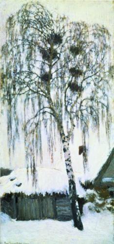Winter. Rook Nests  - Igor Grabar