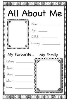 This activity is great for the first day back at school.