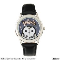 Harry Potter - Hedwig Cartoon Character Art. Producto disponible en tienda Zazzle. Product available in Zazzle store. Regalos, Gifts. Link to product: http://www.zazzle.com/hedwig_cartoon_character_art_wristwatches-256010944982689316?CMPN=shareicon&lang=en&social=true&rf=238167879144476949 #reloj #watch #HarryPotter