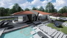 Casa parter 29 | Proiecte de case personalizate | Arhitect Gabriel Georgescu & Echipa Home Fashion, Mansions, House Styles, Outdoor Decor, Home Decor, Houses, Modern Townhouse, Decoration Home, Manor Houses