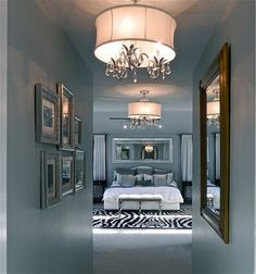Dramatic Master Bedroom enterance...I think the only thing I would change is that zebra print rug