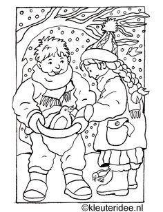 Kleurplaten Vogels In De Winter.84 Beste Afbeeldingen Van Thema Winter Kleurplaten Voor Kleuters