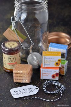 Tea time mason jar gift