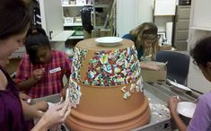 Free Mosaic Flower Pot Patterns | mosaic pots
