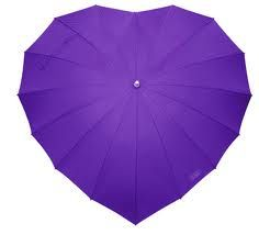 Purple heart shaped umbrella  <3 Love Umbrellas <3
