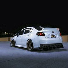 I love that rear diffuser and that massive duck bill spoiler, and personally if I wasn't going with a wing then I would definitely get a duck bill Tuner Cars, Jdm Cars, Slammed Cars, Wrx Mods, Sti Hatchback, 2015 Wrx, Subaru Cars, Jdm Subaru, Colin Mcrae