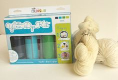 Yarn Dying Kit - Dye your own merino blend fingering or worsted weight - Great gift for the crafty person in your life Etsy alittleknittyjen